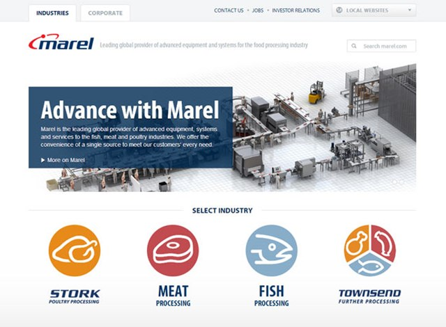 Marel launches new responsive website, optimized for mobile devices